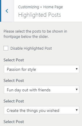 highlighted posts
