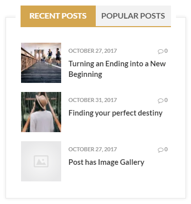 reef plus recent & poplular posts widget front