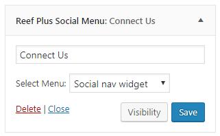 reef plus social menu widget