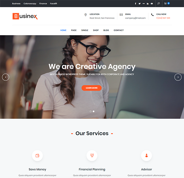 Businex free business wordpress theme is released keon themes businex is a clean responsive theme thats versatile and easy to use suitable for both corporate and creative businesses this elegant theme design gives wajeb Gallery