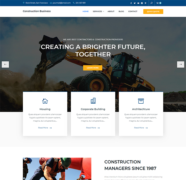 Construction Business Keon Themes
